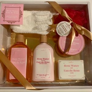 PURESPA Rose Water 6-Piece Hand Foot Care Gift Set
